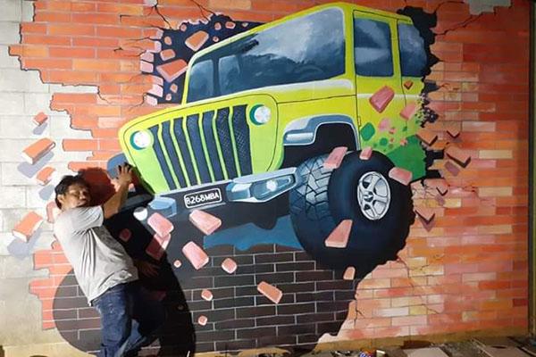 jasa mural 3d art
