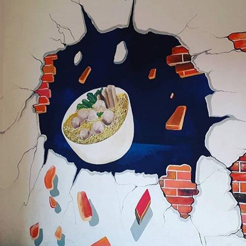 lukis dinding 3d art