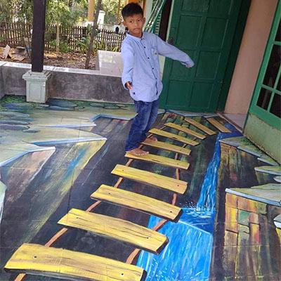 mural lantai 3d